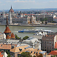 ブダペスト、王宮の丘からの眺望