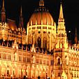 ブダペスト、国会議事堂の夜景