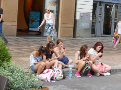 プラハ、ヴァーツラフ広場にて