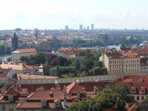 プラハ城から見たプラハ市街