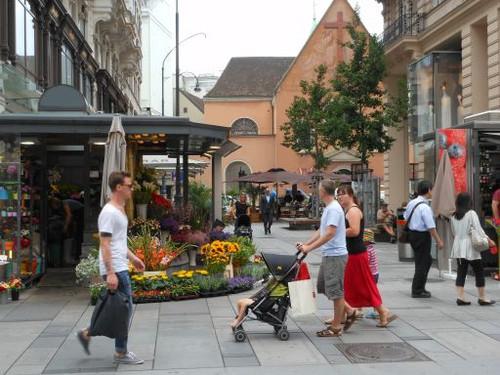 ウィーン、ケルントナー通りの一角