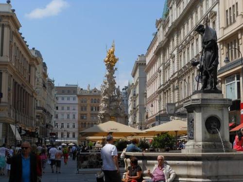ウィーン、ペスト記念柱付近